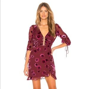For Love & Lemons Sophie Velvet Dress